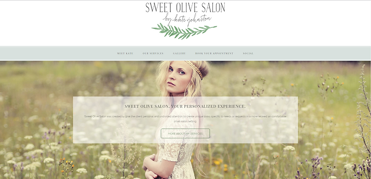 Sweet Olive Salon   Website Design