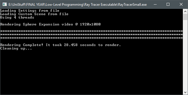 Ray Trace Complete