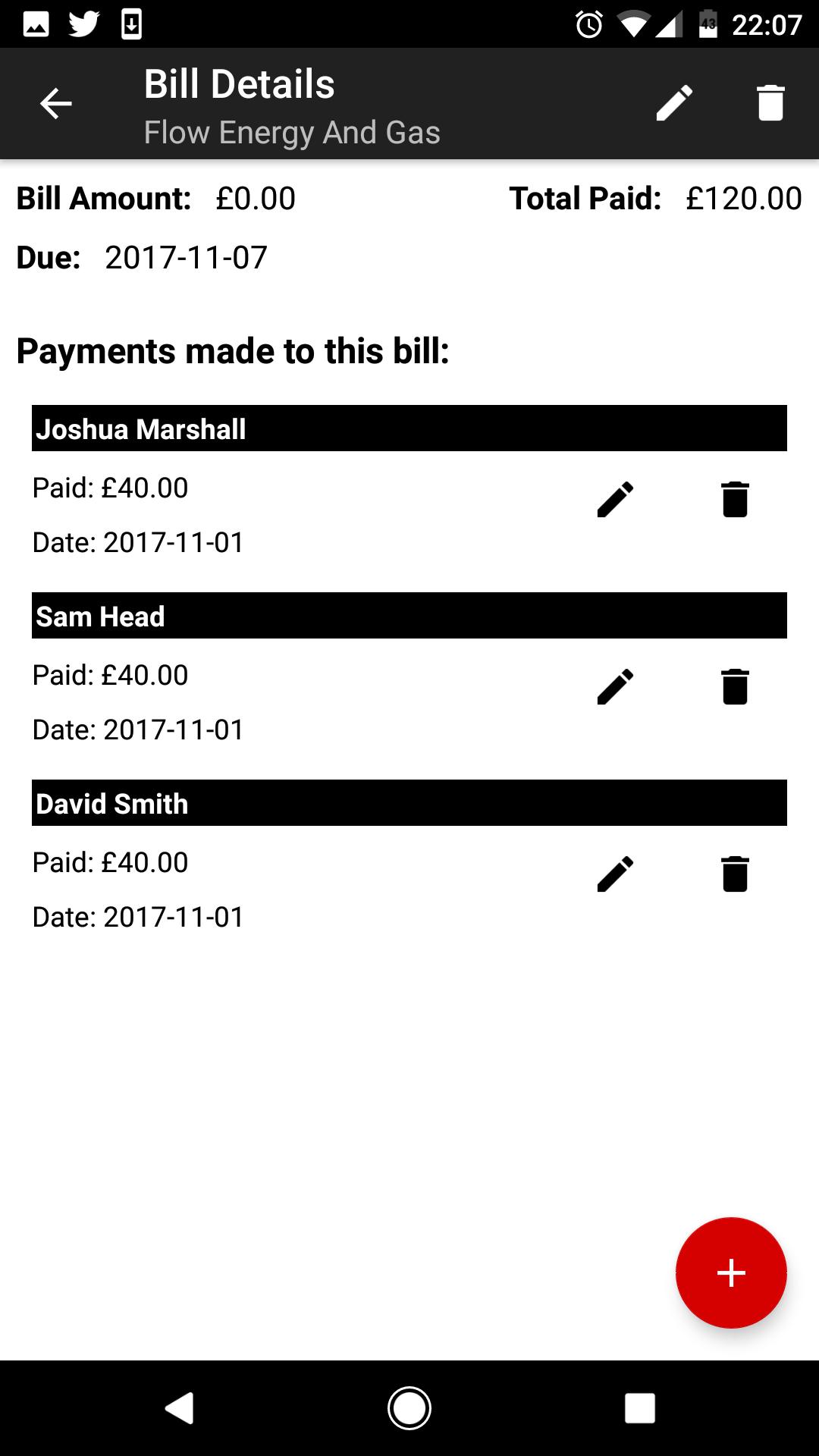 Bill Details