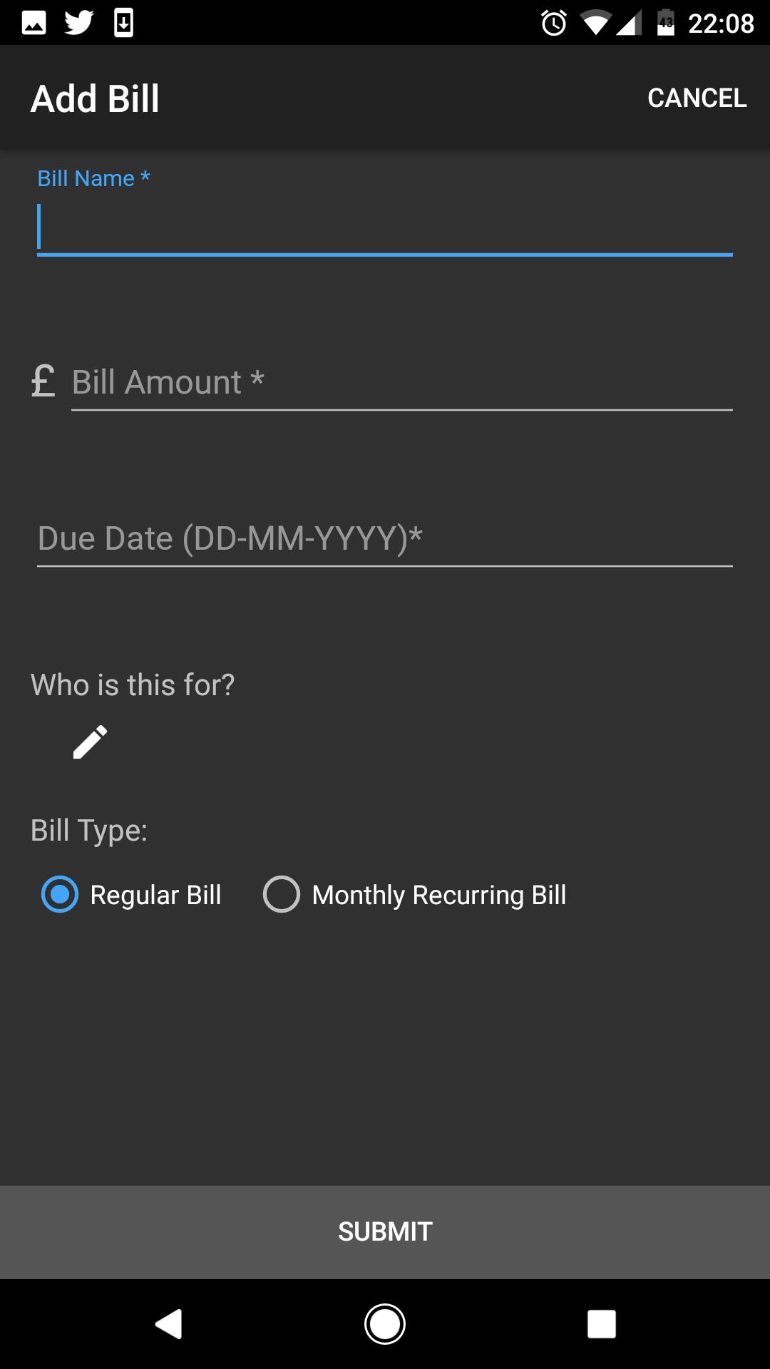 Create Bill