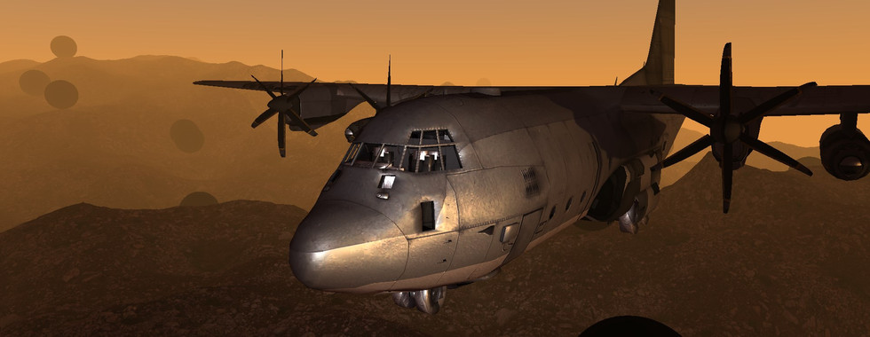 Aircraft with Specular Mapping and Metal Material