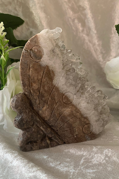 Clear Quartz Cluster Carved Fairy