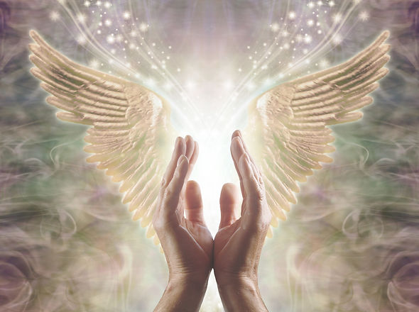 Sensing Angelic Energy - Male hands reac