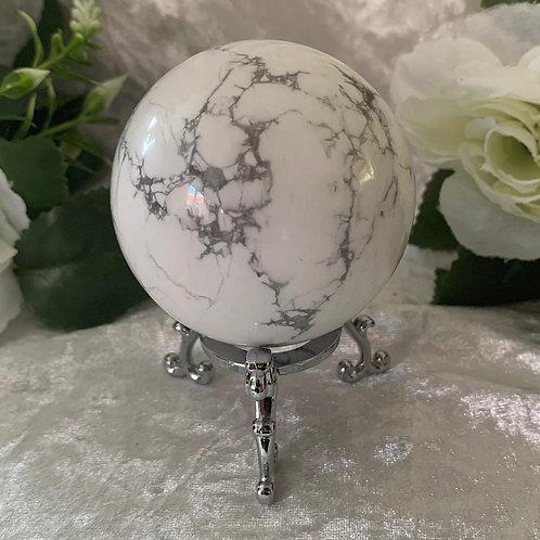 White Howlite Sphere