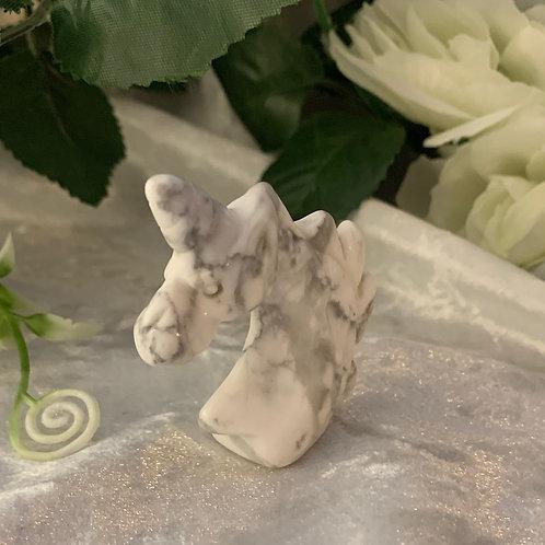 White Howlite Unicorn