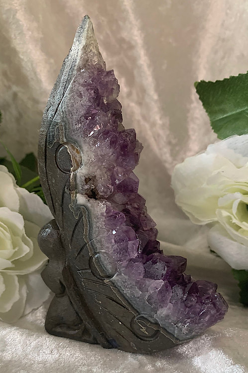 Amethyst Cluster Carved Fairy