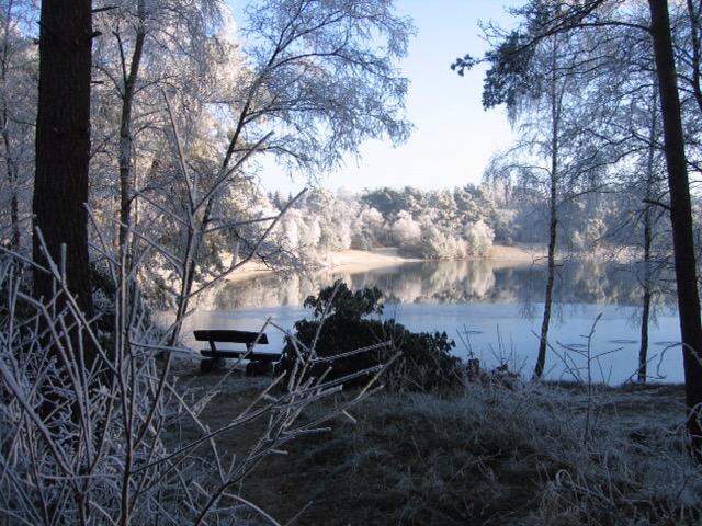 Feriensiedlung im Winter