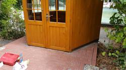 Montage Gartenpavillon - sechseckig