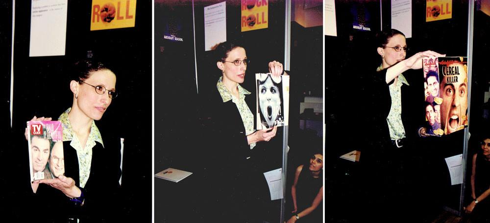 מציגה את פרויקט הגמר שלי, מאי 1998