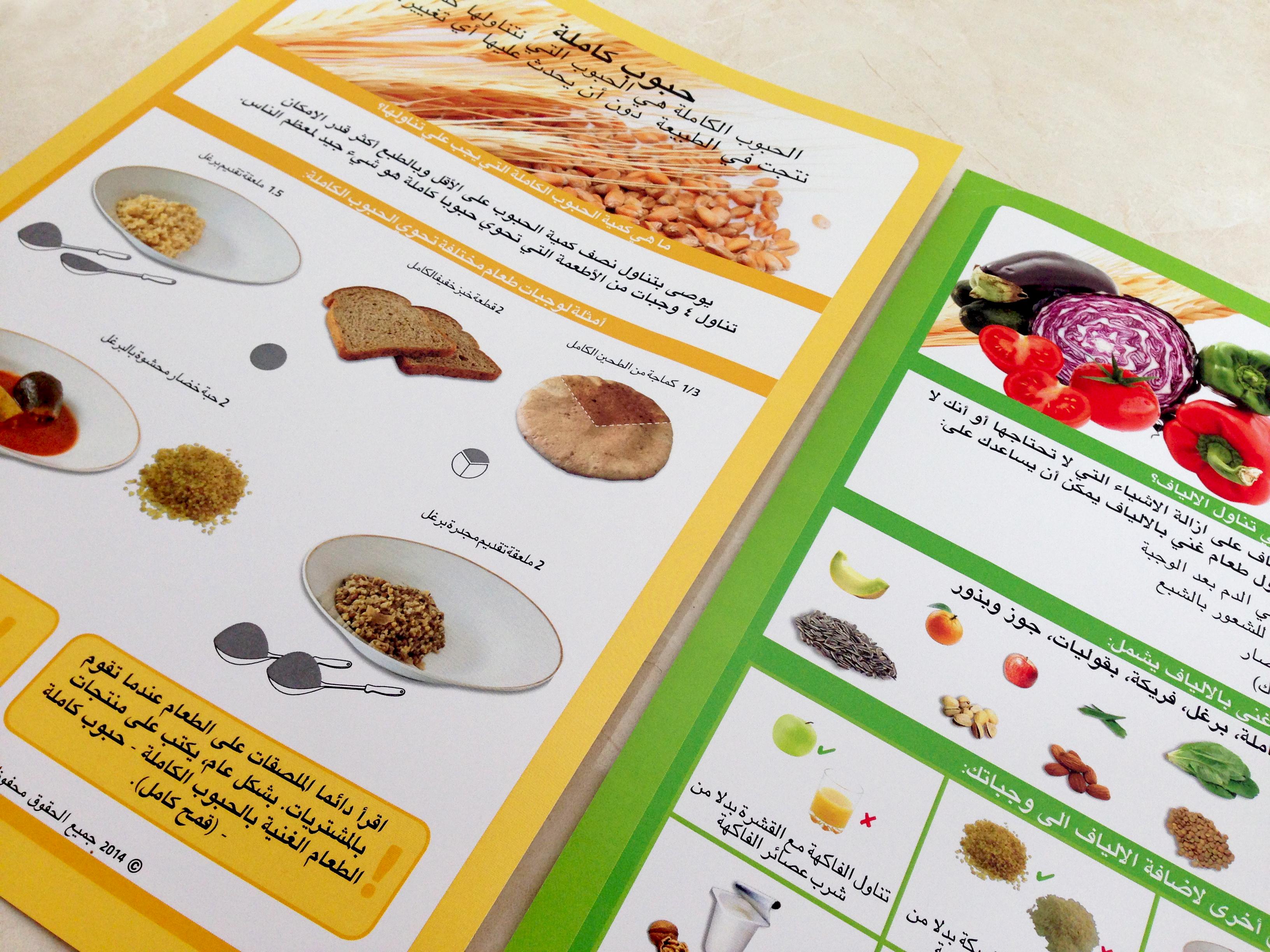 עלוני מידע תזונתיים