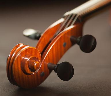 תקריב של ידית של כינור