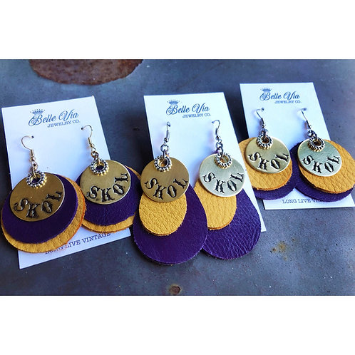 Vikings SKOL Earrings