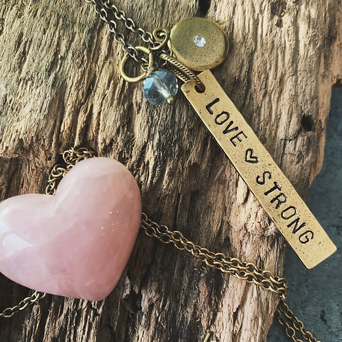 Love Strong Bar Pendant