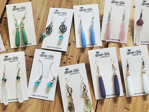 Vintage Sea Glass Earrings