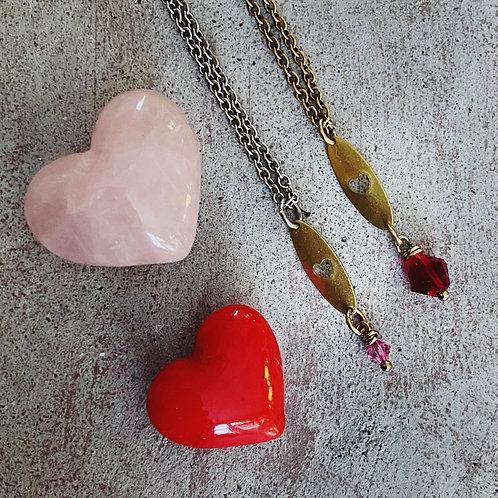 Itty Bitty Brass Heart Pendant