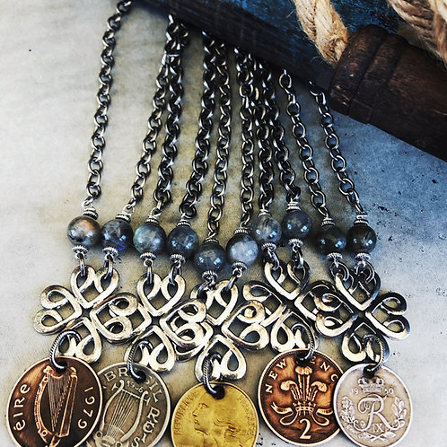 Vintage Ornate Silver Key