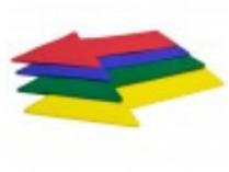 Arrow Floor Markers Set of 8 pieces