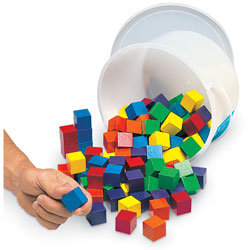 1 in. Wooden Color Cubes - Set of 510