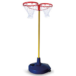 BLue base system with 2 sided basketball