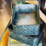 ブリキ製ツールボックス