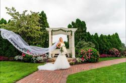 A noiva e seu lindo véu. Foto: David Gonçalves.