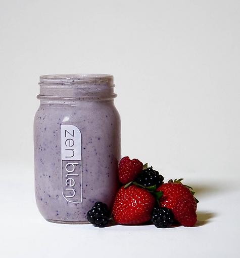 Zenblen Smoothies, Mint Berry Smoothie, happy healthy moments, strawberry, raspberry, blackberries, smoothie, Zenblen