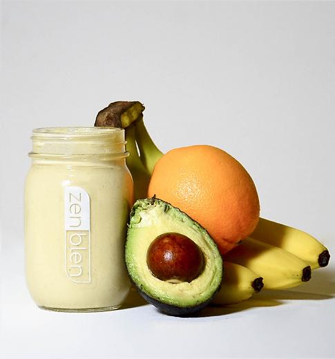 Tropical Citrus Smoothie, happy healthy moments, avocado, orange, banana, smoothie, Zenblen Smoothies