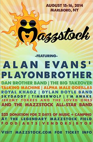 Mazzstock 2014 Lineup