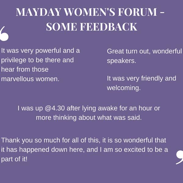 Feedback Mayday Women's Forum feedback.p
