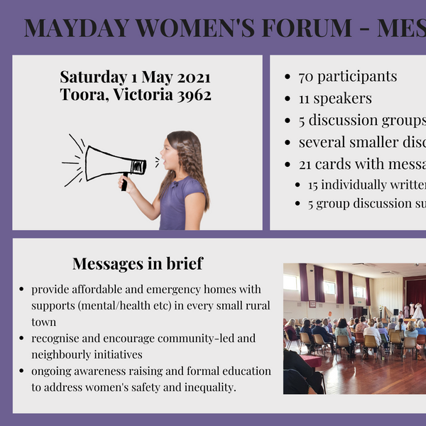 summary messages Mayday Women's Forum Me