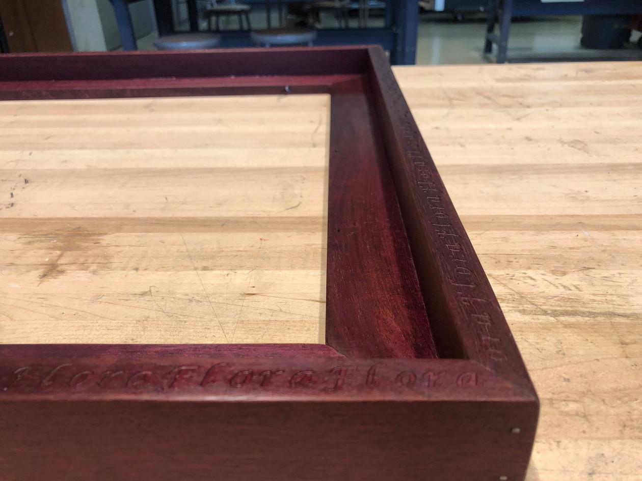 Wood finish detail