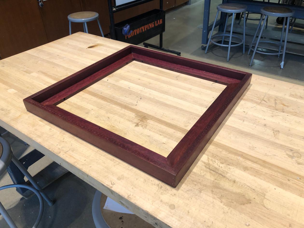 Final assembled frame