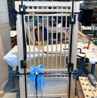 Assembling and gluing bed side