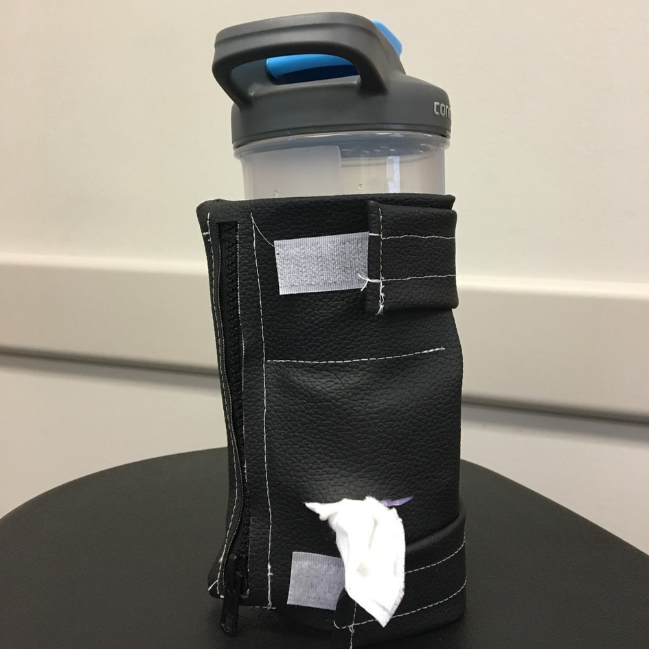 Wype on water bottle