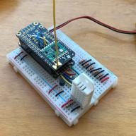 Radio-enabled Arduino circuit