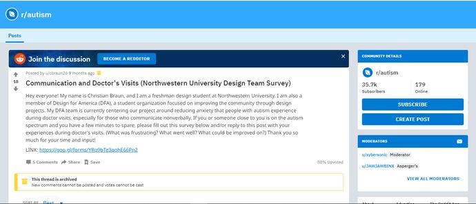 Reddit survey