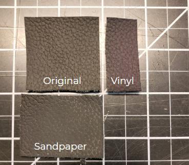 Vinyl material testing