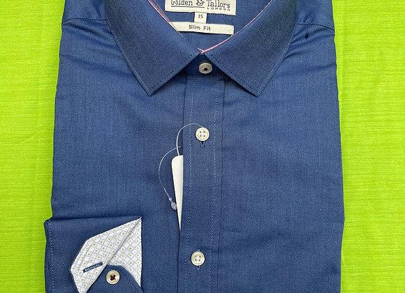 Blue Men Long Sleeve Shirt £3.75