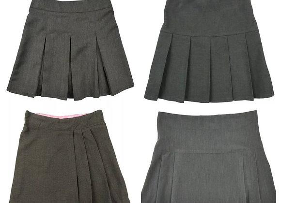 Girls School Skirts Zip Drop Waist size 2/16 years 3 colours £1.00