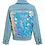 Thumbnail: BNWT Girls Denim Jacket kids sequin summer soft Jean sparkle coat 3-15 Y £3.00