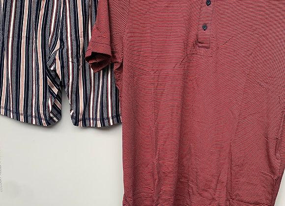 2PCS  Men's  Short Sleeve  Pajamas Set Summer Casual Short Night Wear Loungewear
