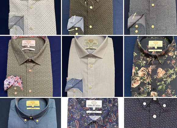 Men's Shirt Button Down Slim Fit Long Sleeve Formal Shirts RRP. £29.99 our price