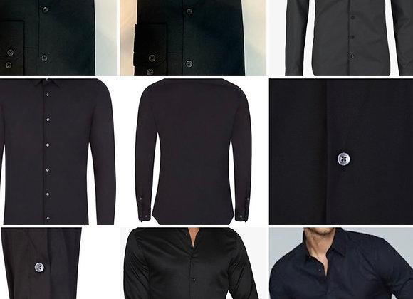 Men's  Shirts slim  fit Long sleeveEx store £1.25