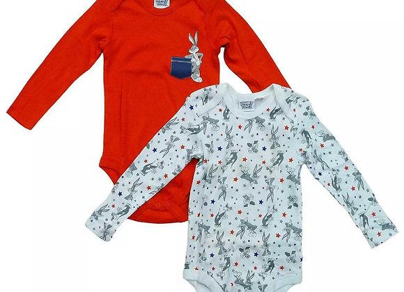 BABY 2 PCS  PACK LONG SLEEVE VESTS BODYSUITS ROMPER Short sleeve  £1.60 pack 2