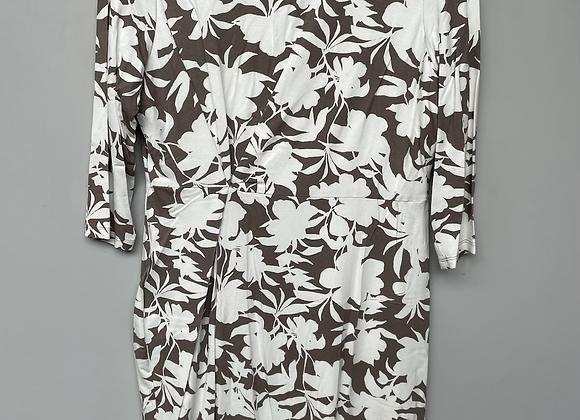 White Grey Floral dress