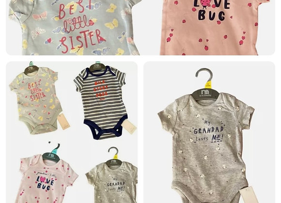 Baby suits X mother care short sleeve £1.10