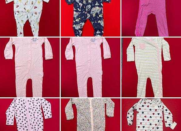 Ex Major HighStreet Baby Sleepsuits   1pc  - £1.50