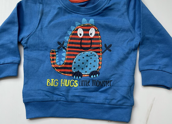 BOYS EX STORE BIG HUGS EMBROIDERED TOP £1.50