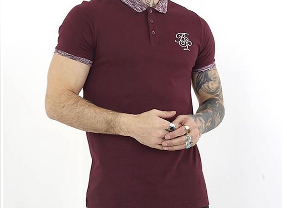 MENS SHORT SLEEVE 3X BUTTON POLO WITH CHEST BSL EMBROIDER
