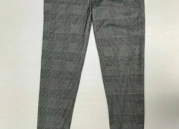 Girls Checked stretch Leggings Kids Full Length Grey Children Job lot. 1000 pair